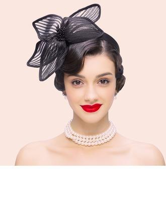 Dames Style Vintage Polyester avec Tulle Chapeaux de type fascinator