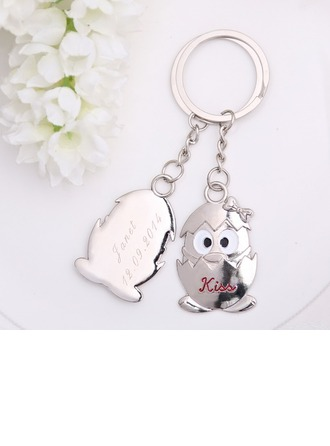 Personalized Penguin Baby Stainless Steel Keychains