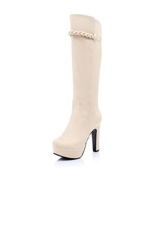 Similicuir Talon bottier Bottes hautes chaussures