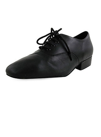 Men's Kids' Real Leather Flats Modern Dance Shoes