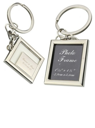 Personalized Square Zinc Alloy Keychains/Photo Frame