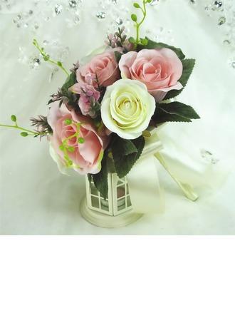 Délicat Rond Bouquets de demoiselle d'honneur