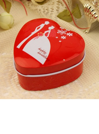 """Happy Wedding"" Heart-shaped Favor Tin"