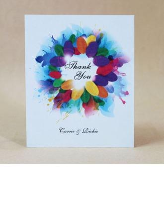 personnalisé Conception Florale Carte papier épais Merci des cartes
