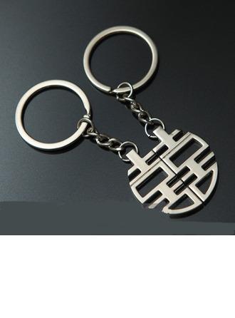 Classique Double bonheur Alliage en zinc Portes-clés