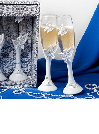 Thème papillon Flûtes à champagne (Lot De 2)