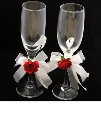 Élégant Verre sans plomb Flûtes à champagne (Lot De 2)