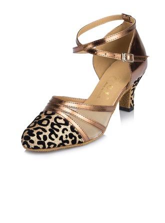 Femmes Similicuir Talons Escarpins Modern Style avec Lanière de cheville Chaussures de danse