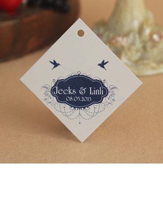 personnalisé Beaux Oiseaux Carte papier épais Étiquettes