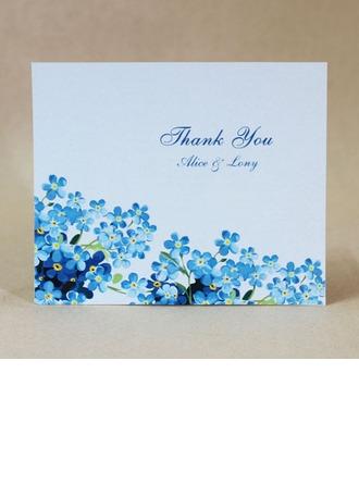 personnalisé Design de fleur Carte papier épais Merci des cartes