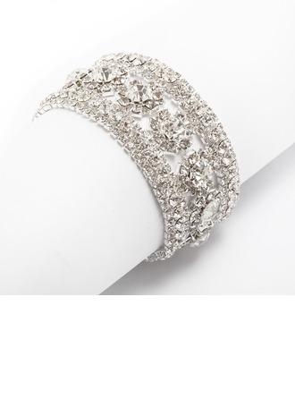 Bbracelets et manchettes Assortiment avec Faux diamant Dames Bracelets