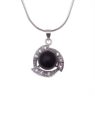 """Elegante 925 cadena de plata y/""""AAA"""" perla De mujer Collares"""