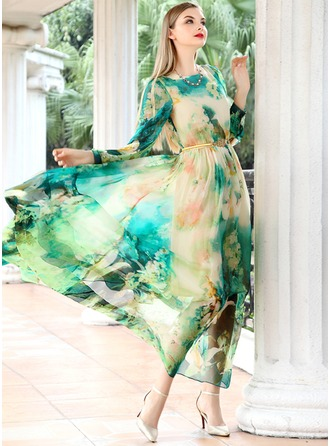 Rayon/Silk With Print Maxi Dress