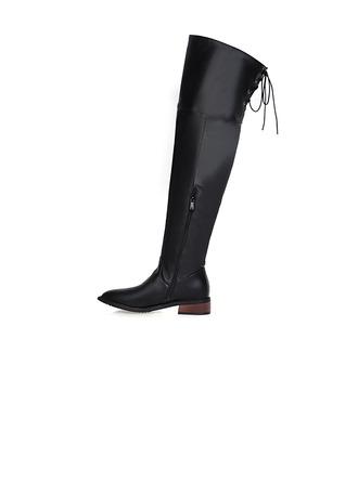 Femmes Similicuir Talon bas Escarpins Bout fermé Bottes Bottes hautes chaussures