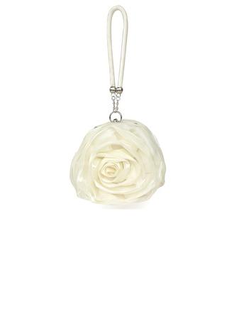 Fashional Satin With Flower Wristlets/Bridal Purse