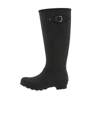 Femmes Caoutchouc Talon bas Bottes hautes Bottes de pluie avec Boucle chaussures