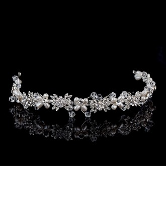 Rhinestone/Alloy/Imitation Pearls Headbands
