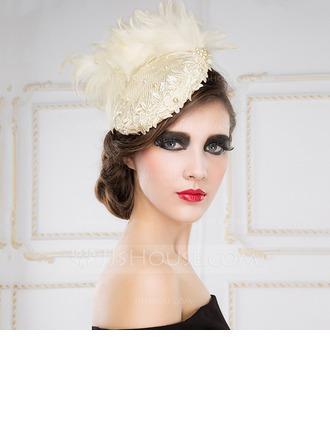 Exceptionnel De faux pearl/Feather/Batiste Chapeaux