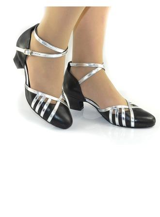 Femmes Vrai cuir Talons Escarpins Modern Style avec Lanière de cheville Chaussures de danse