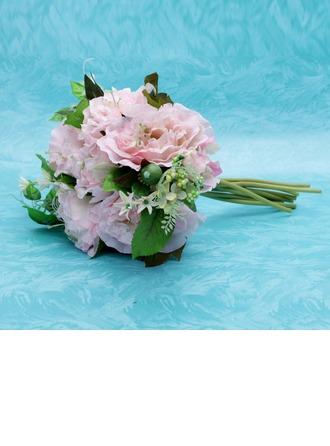 Fantaisie Attaché à la main Satin Bouquets de Demoiselle D'honneur
