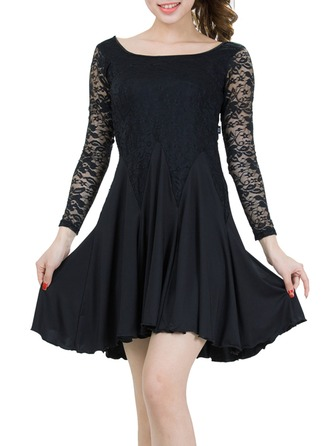 Women's Dancewear Lace Polyester Latin Dance Dresses