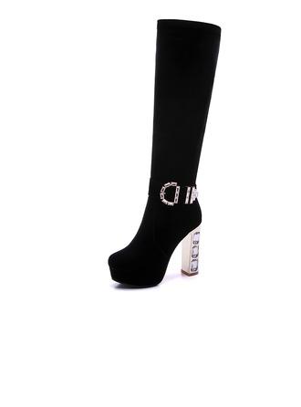 Femmes Similicuir Talon bottier Bottes Bottes hautes chaussures