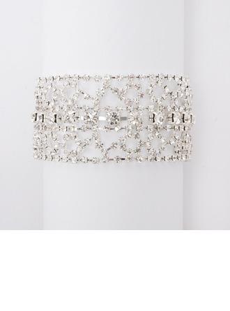 moda aleación con Diamantes de imitación señoras' pulseras