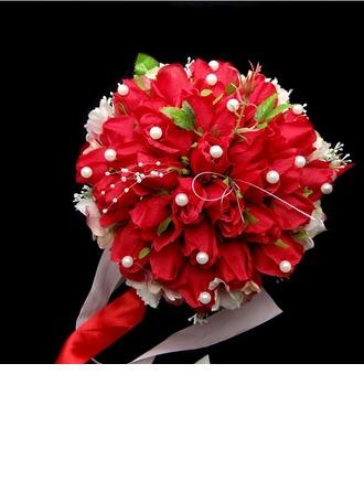Classique Attaché à la main Satin/Coton Bouquets de Mariée