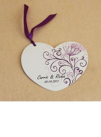 personnalisé Conception Florale Papier Cartes d'invitations avec Rubans
