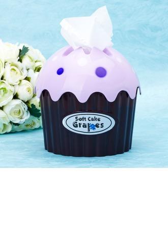 Design cupcake Plastique dur Boîte à mouchoir