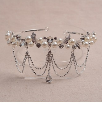 Moda Rhinestone/Aleación/La perla de faux Tiaras