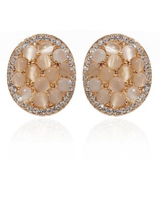 Jolie Alliage/Cristal Dames Boucles d'oreilles