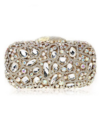 Unique Crystal/ Rhinestone Wristlets/Bridal Purse/Luxury Clutches