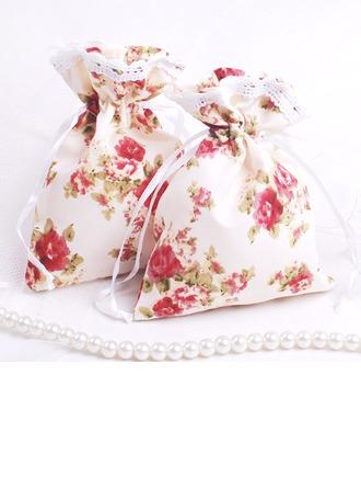 Jolie thème floral Sacs cadeaux avec Rubans