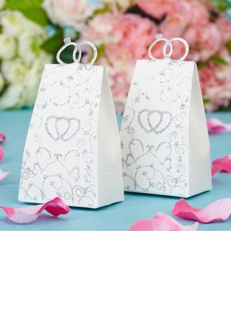 Double cœur Forme en sac à main Boîtes cadeaux
