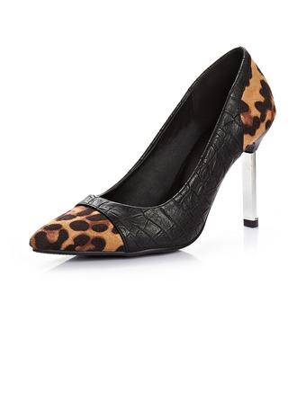 Similicuir Talon stiletto Escarpins Bout fermé avec La copie Animale Semelle chaussures