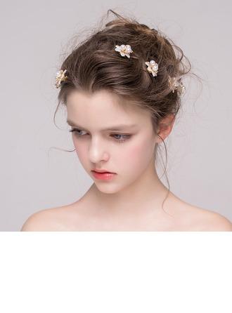 Unique Rhinestone/Alloy/Imitation Pearls Hairpins