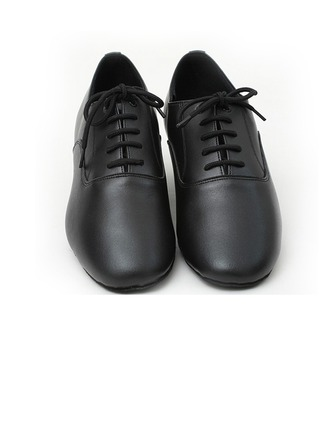 Men's Real Leather Heels Pumps Latin Dance Shoes