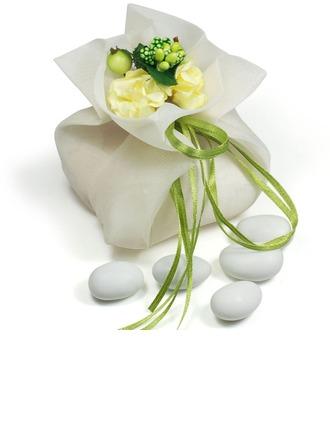 Jolie thème floral Sacs cadeaux avec Fleurs/Rubans