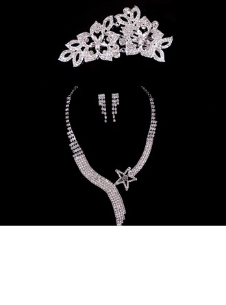 Moda Aleación/Diamantes de imitación Señoras' Sistemas de la joyería