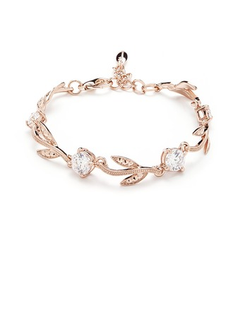 Leaves Shaped Alloy With Crystal Women's/Ladies' Bracelets