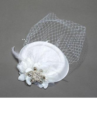 Ladies' Vintage Spring/Summer/Autumn/Winter Net Yarn With Fascinators