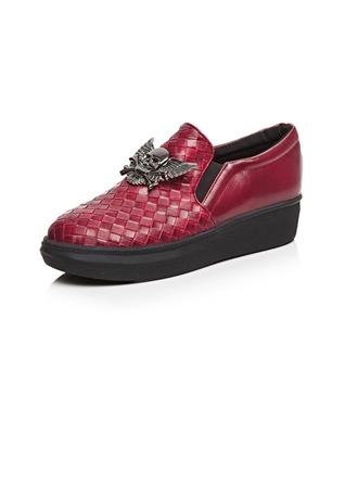 Femmes Similicuir Talon plat Chaussures plates Plateforme avec La copie Animale chaussures