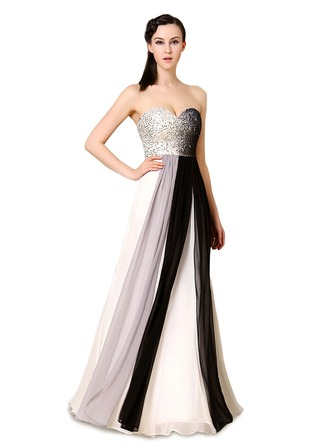 Satin/Tulle/Silk Blend With Sequins/Stitching Maxi Dress