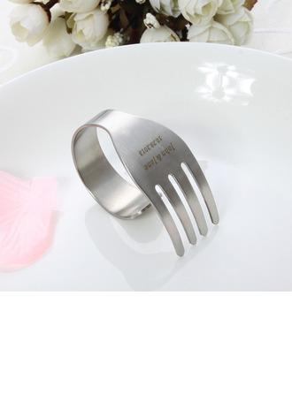 personnalisé Design en fourchette En alliage de zinc Ronds de serviette