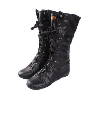 Women's Kids' Leatherette Boots Jazz Dance Shoes