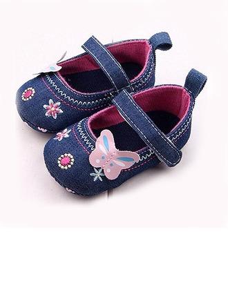Fille de bébé de en tissu talon plat Bout fermé Pre Walker Première Walker Chaussures plates