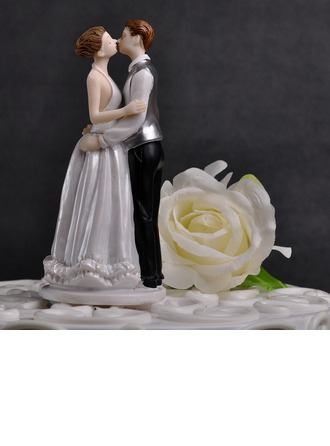 Figurine Baisers des couples Résine Mariage Décoration pour gâteaux