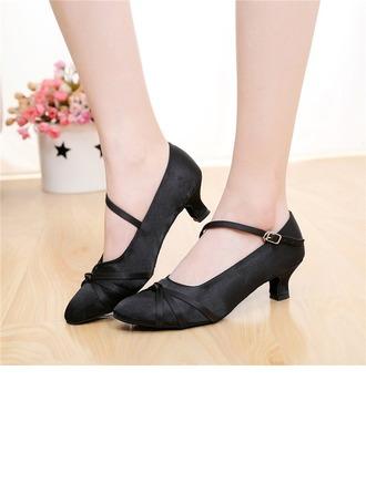 Femmes Satiné Escarpins Modern Style avec Boucle Chaussures de danse