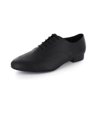 Men's Real Leather Heels Pumps Modern With Lace-up Dance Shoes